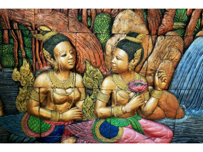 Fototapet gammal thai statur (23794142)