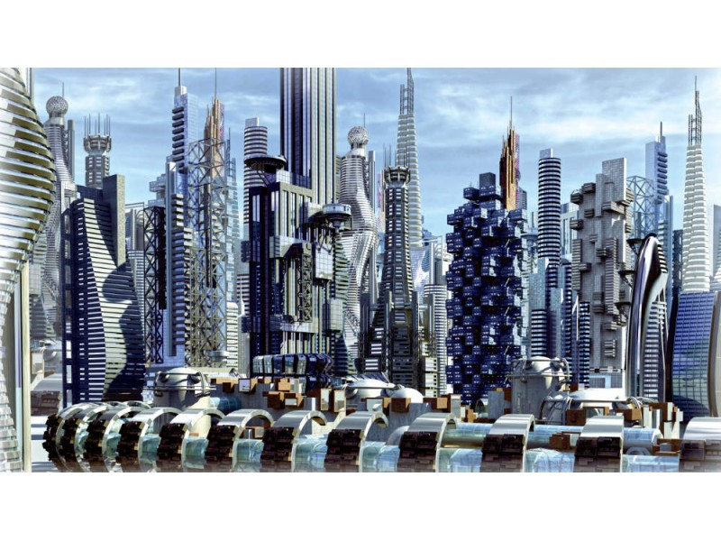 Fototapet science fiction stad (31360199)