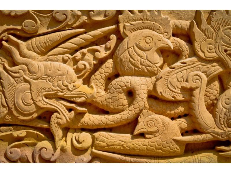 Fototapet tempelvägg mönster (17289880)