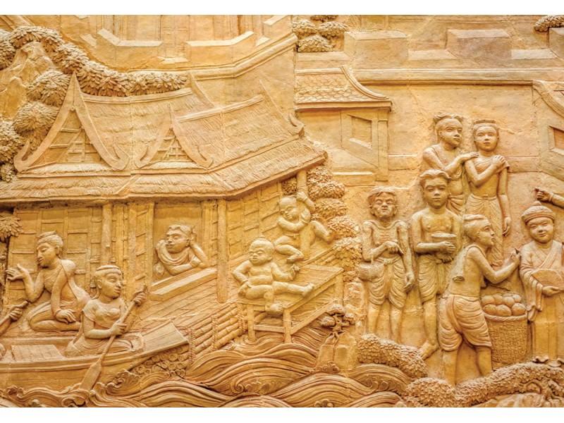 Fototapet thailändsk stuckatur-art (34827535)