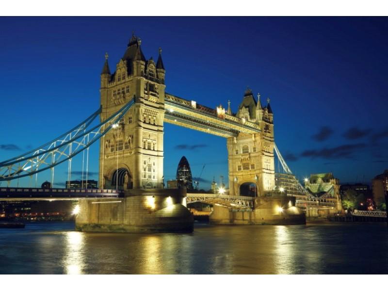 Fototapet Tower Bridge i skymningen (5615104)