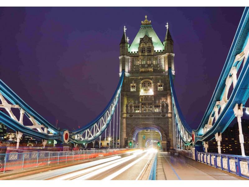 Fototapetstornbro i London på natten (39898341)