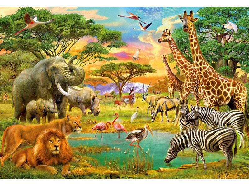 FOTOTAPET AFRIKANSKA DJUR